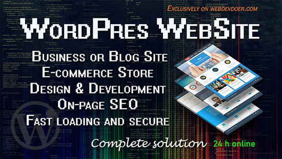 wordpress website design service - webdevdoer.com