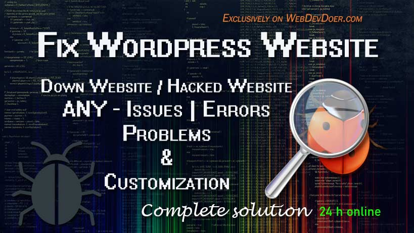wordpress bug fixing service